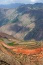 瓷五颜六色的dongchuan农田 图库摄影