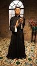 甄子丹打蜡雕象在 夫的wax museum, hk女士 免版税库存照片