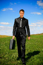 image photo : Walking businessman