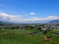 甲府盆地风景在山梨,日本 图库摄影
