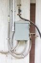 电动控制箱子。 免版税库存图片