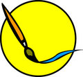 画笔油漆冲程 免版税库存照片