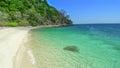 白色沙子海 在adang热带海岛上的泰国 库存图片