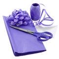 礼品紫色换行 免版税库存照片