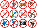禁止符号向量 库存照片