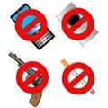 禁止符号的收藏 库存图片
