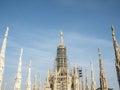 米兰哥特式大教堂 库存图片
