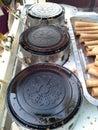 米泰国点心的模子烤箱 免版税库存照片