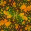类似于模板的抽象秋天背景设计叶子 免版税库存照片