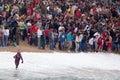 红十字会、海抢救和船只 图库摄影