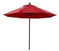 红色沙 伞 免版税库存照片