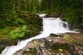 级联的秋天冰川蒙大拿国家公园 免版税库存图片