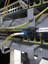 网 设备连接器特写镜 免版税库存照片
