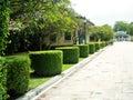 美丽的庭院在泰国 免版税库存图片