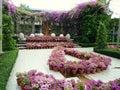 美丽的庭院在泰国 库存照片