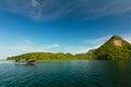 美丽的海在泰国 免版税库存照片