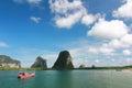美丽的海在泰国 图库摄影