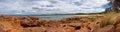 美丽的bicheno在塔斯马尼亚岛 库存图片