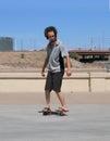 美国,亚利桑那 坦佩:freeline溜冰者 库存照片