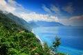 美好的海岸线在宜兰,台湾 免版税库存图片