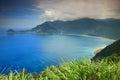 美好的海岸线在宜兰,台湾 库存图片