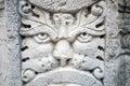 老大理石狮子面孔雕塑 免版税库存照片