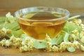 自然菩提树茶 库存图片