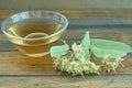 自然菩提树茶 免版税图库摄影