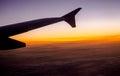 航空器高度蓝色飞行高天空翼 图库摄影
