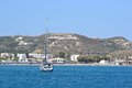 航行游艇在海 图库摄影