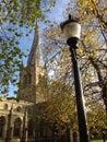英国英国德 郡切斯特菲尔德弯曲的尖顶 图库摄影