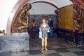 莫斯科地铁车站 革命的广场 库存照片