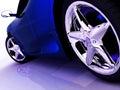 蓝色汽车体育运动 库存照片