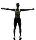 行使健身 炼重量的妇女训 s 库存照片