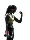 行使健身 炼重量的妇女训 s 免版税库存图片