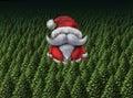 袋子看板卡圣诞节霜klaus  圣诞老人天空 图库摄影