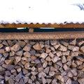 被存放的木 免版税库存照片