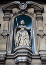 西方dunstan伊丽莎白一世st的雕象 免版税库存图片