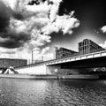 观光的柏林,在 白的艺术性的神色 库存图片