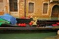 详细资料长平底船威尼斯 免版税库存图片