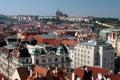 资本城堡城市捷克布拉格praha共和国 库存照片