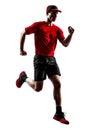 赛跑者慢跑者跑的跑步的剪影 库存照片
