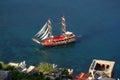 运送在阿拉尼亚,土耳其港 库存照片
