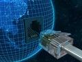 连接地球行星 免版税图库摄影