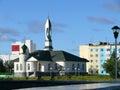都市的横向 清真寺 nadym 库存照片