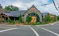 醇厚的蘑菇餐馆吹的岩石北卡罗来纳 免版税库存照片