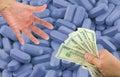 采购的药物   免版税库存图片