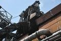 钢铁厂熔炉 库存照片