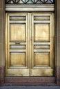 银行黄铜门 库存图片