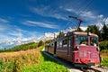 阿尔卑斯法国山电车 库存图片